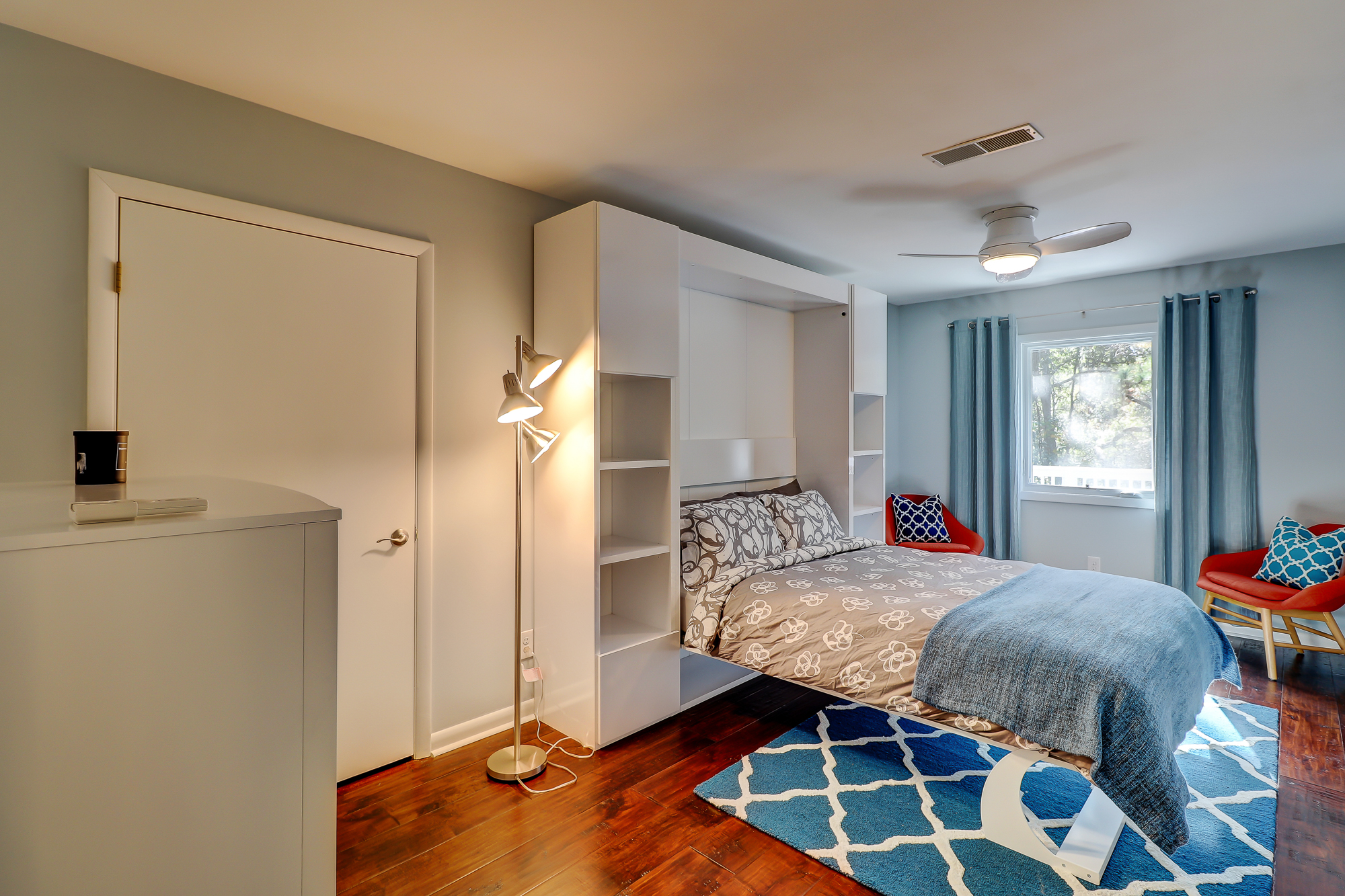 Huge Guest Bedroom with a Murphy Bed. 8 Bradley Beach, Hilton Head Island, MLS# 388240