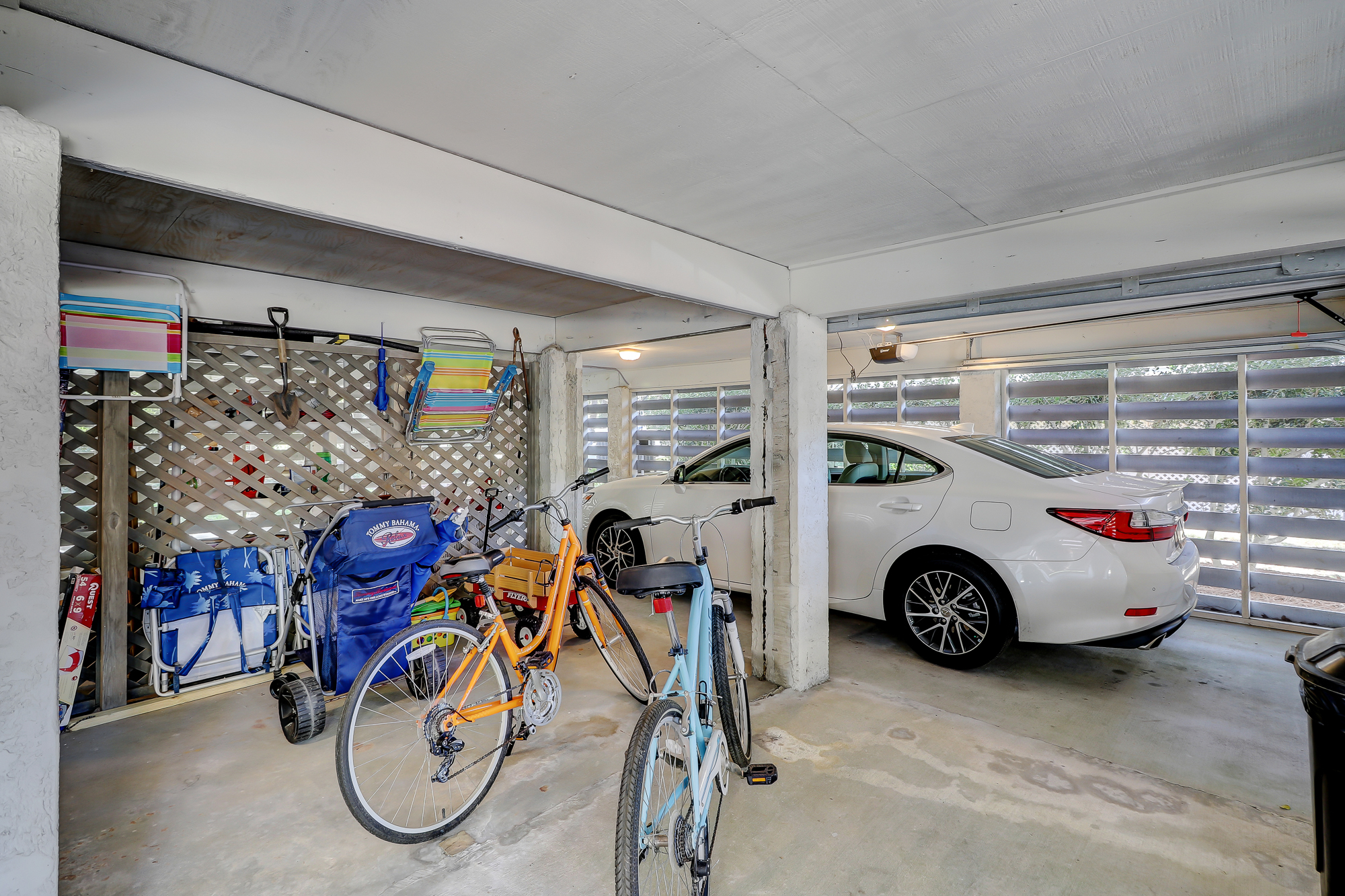 Huge parking underneath with room for up to four cars and still plenty of storage. 8 Bradley Beach, Hilton Head Island, MLS# 388240