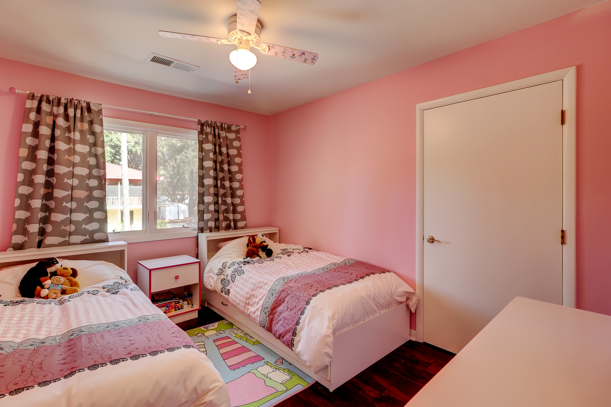 Second Guest Bedroom with twins beds but large enough for a king bed. 8 Bradley Beach, Hilton Head Island, MLS# 388240