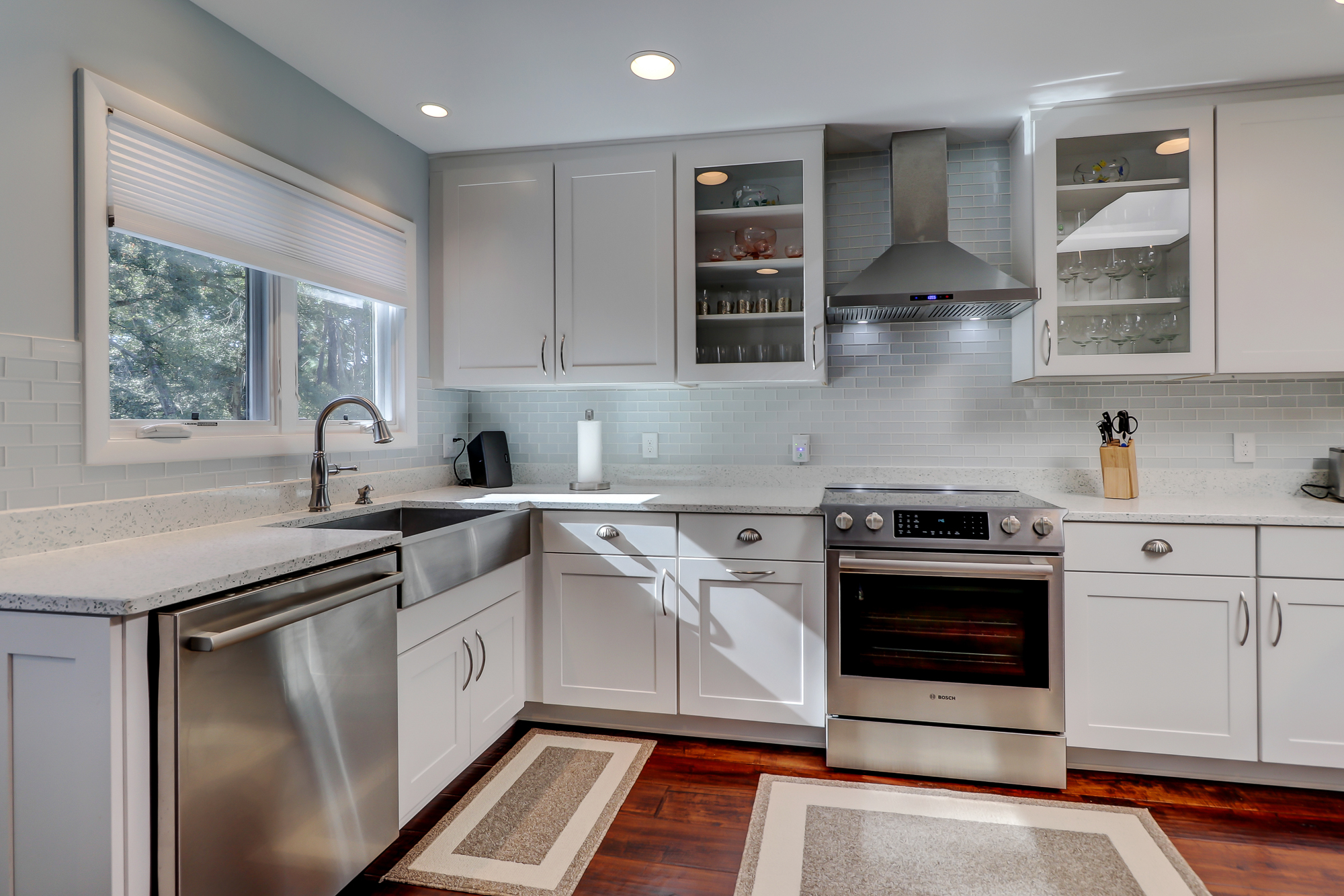 Custom Kitchen, Stainless Steel Appliances, Silestone Counters, wood floors and plenty of natural light. 8 Bradley Beach Road MLS 388240
