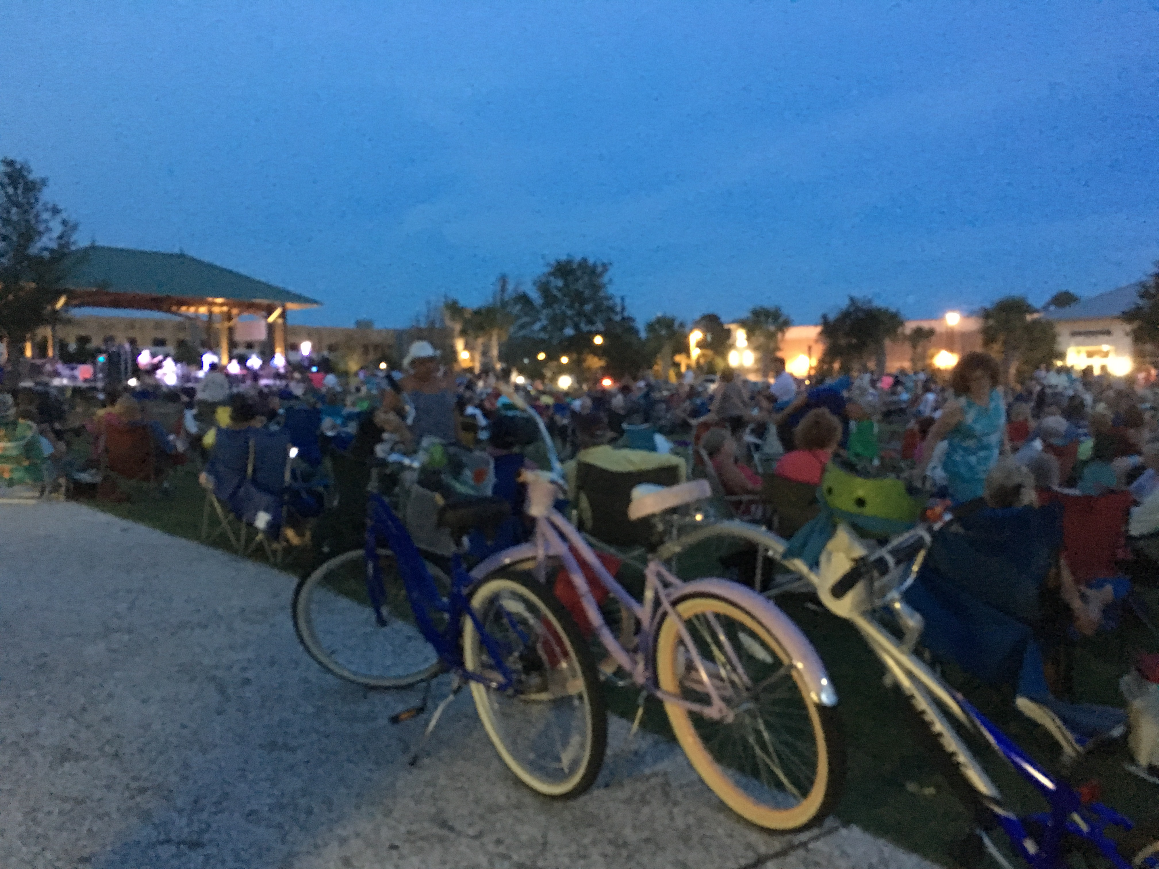 Shelter Cove Town Park Concert Series. You can just ride your bike.