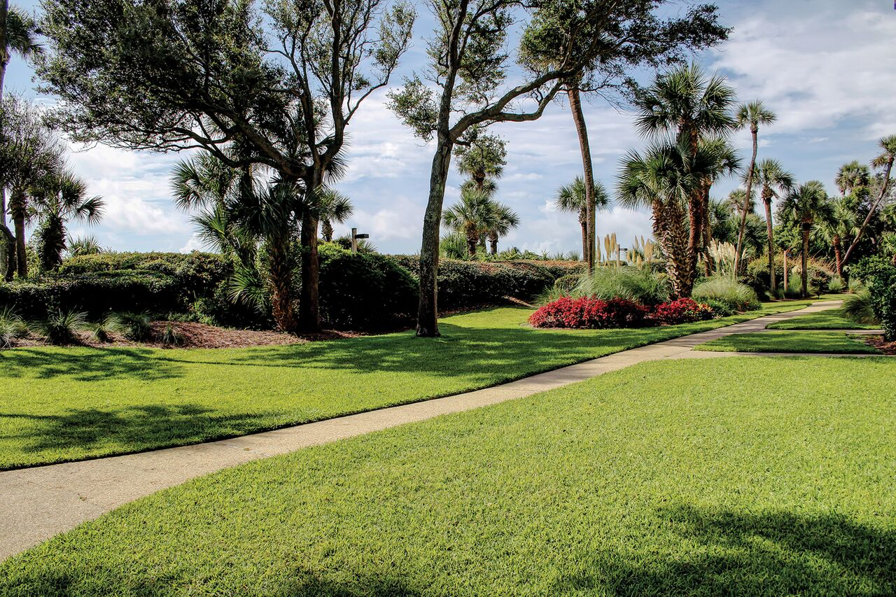 Beautiful tropical landscape in Captains Cove Villas