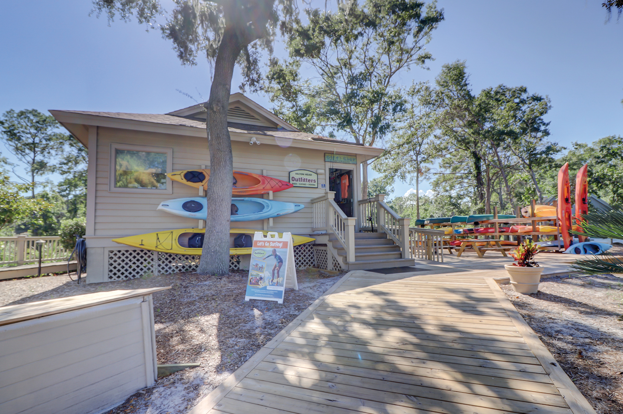 Outfitter Center on the 11 mile Lagoon in Palmetto Dunes