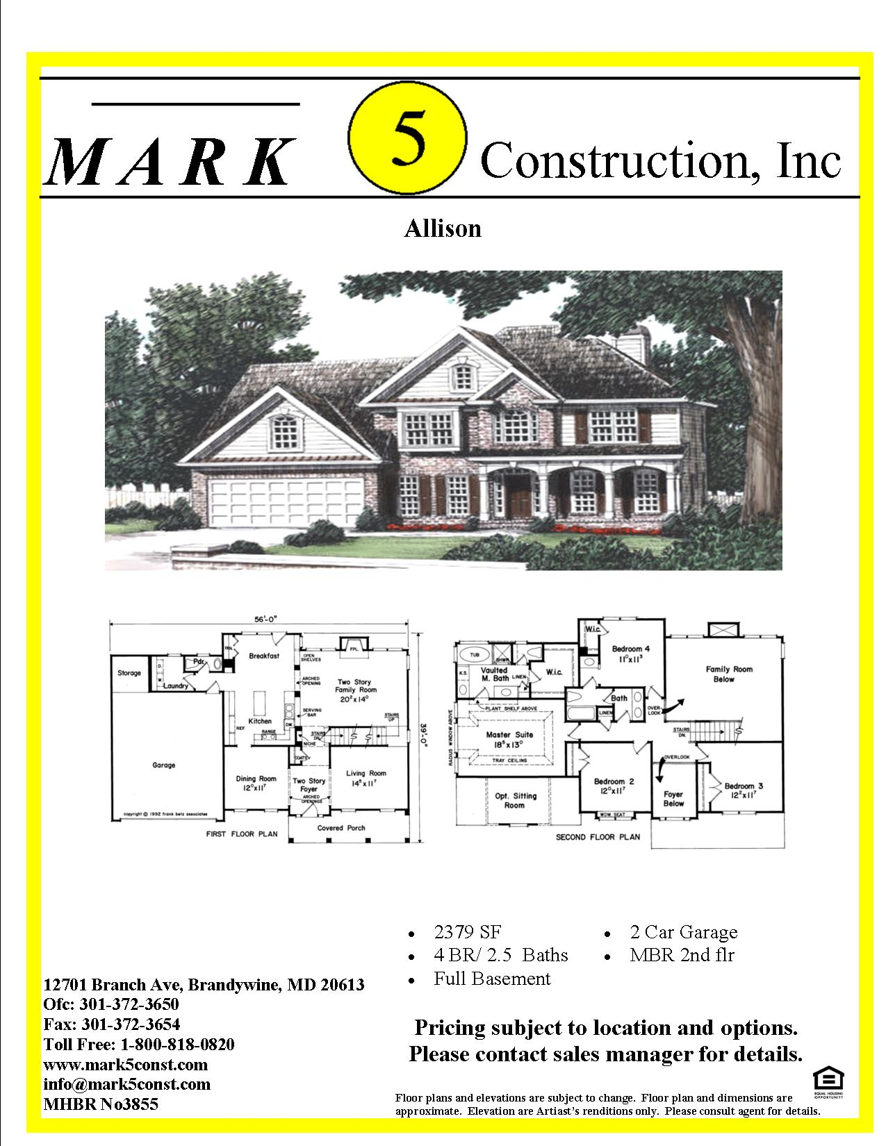 Allison mark 5 construction custom home builders in for Nw home builders