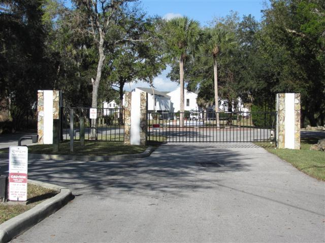 Gated Entrance to River Cove Landings