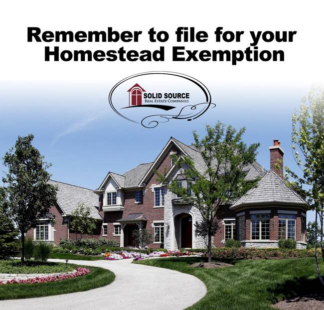 Remember to file for homestead exemption