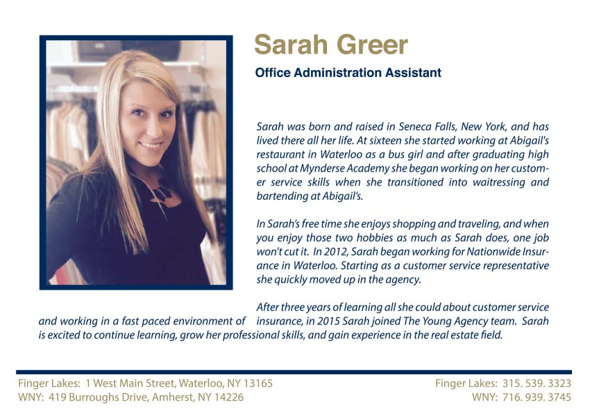 Sarah Greer Office Administration Assistant Largest