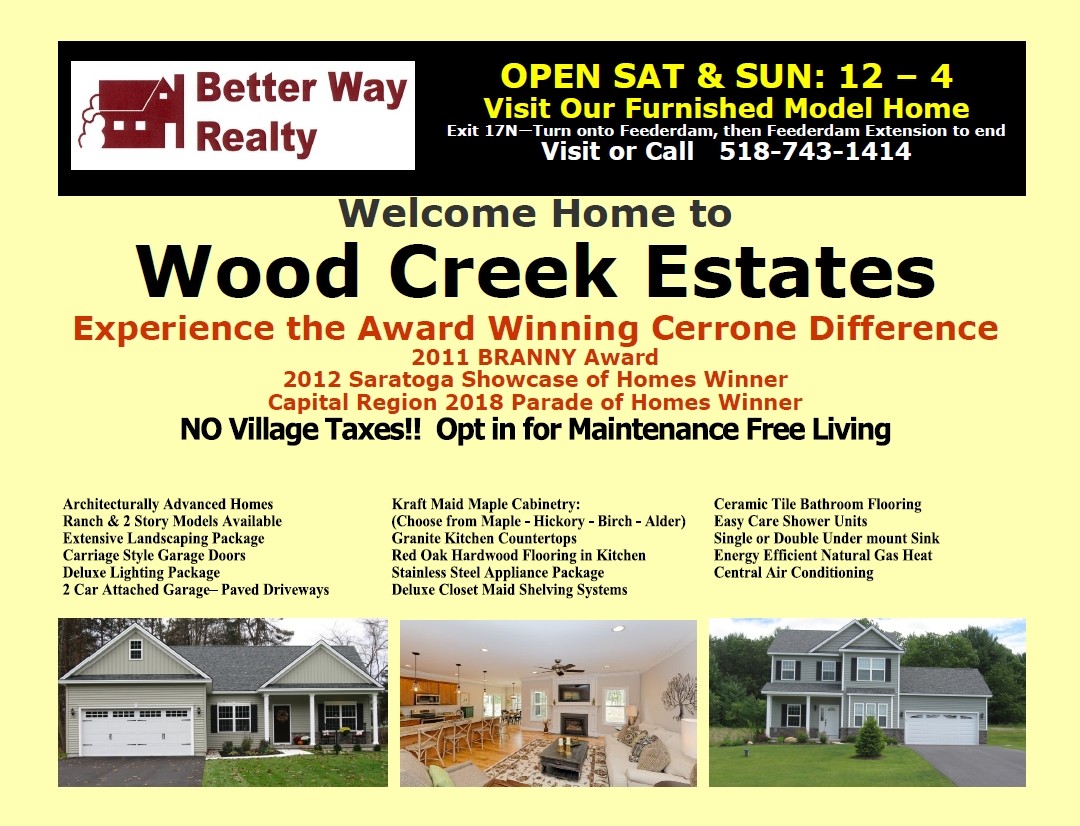 Wood Creek Estates Information Ad from Post Star in Glens Falls and Moreau New York