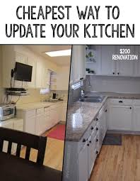 CHEAPEST WAY TO UPDATE YOUR KITCHEN