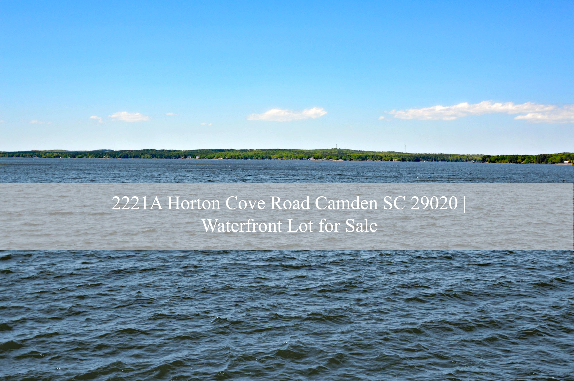 Lake Wateree SC Real Estate Property for Sale