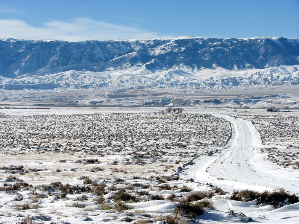 Winter views in Wyoming at the Western Heartlands Ranch