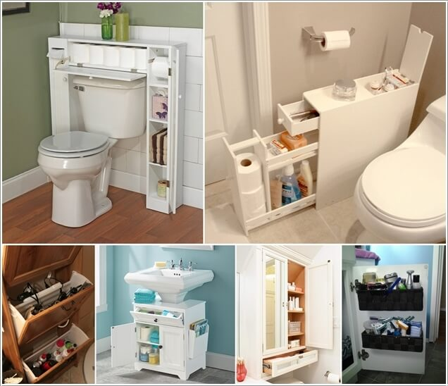 10 space saving storage ideas for your bathroom for Cheap space saving ideas