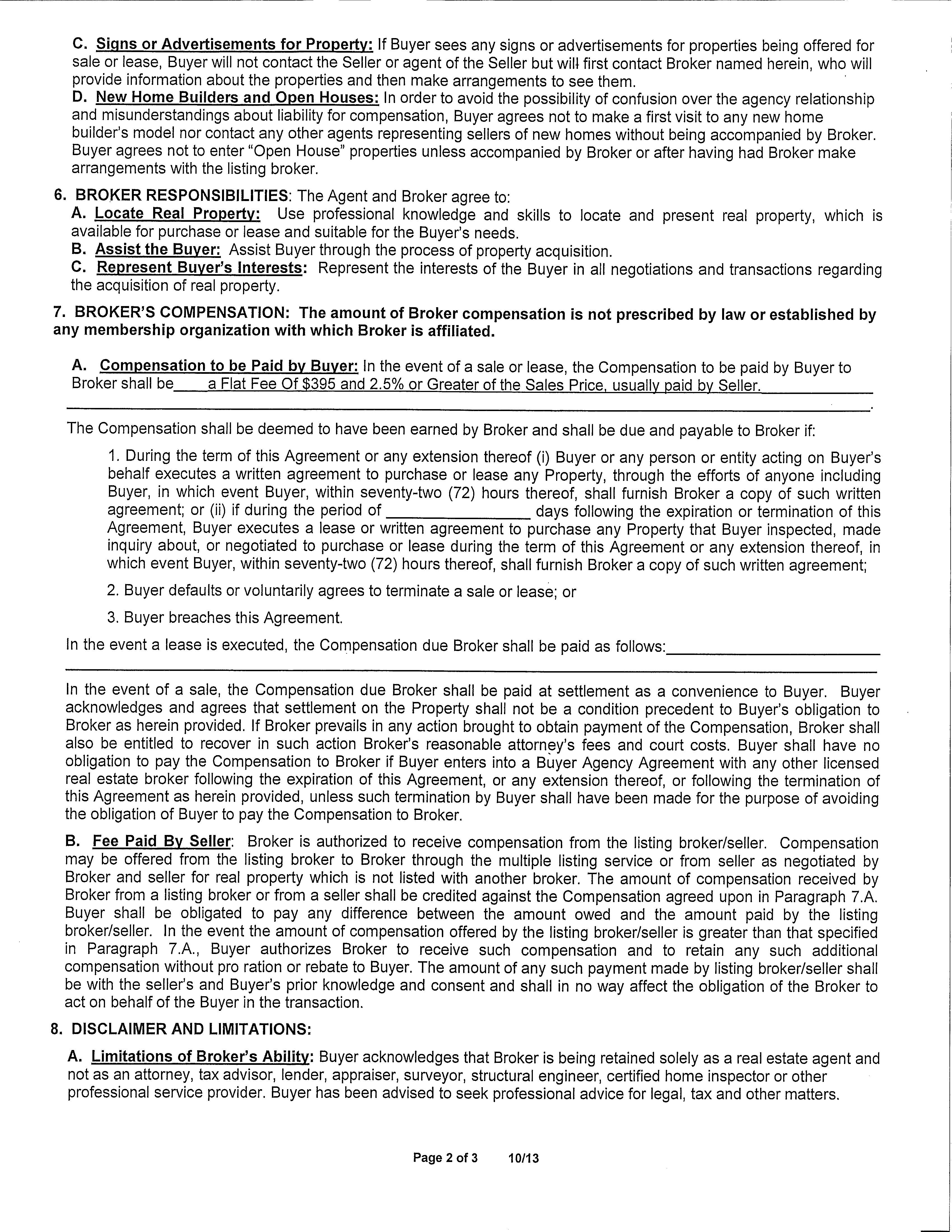 Buyer Representation Agreement White Marsh Homes For Sales