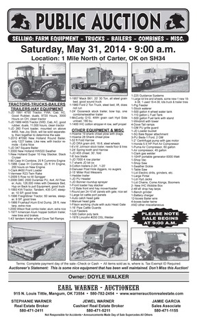 FARM EQUIPMENT Sold
