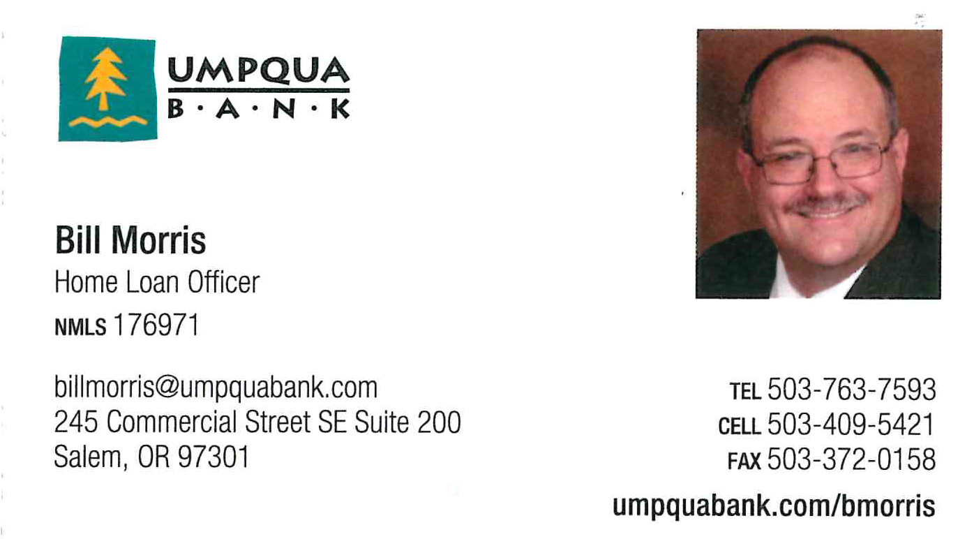 Bill Morris, Umpqua Bank Mortgage Loans