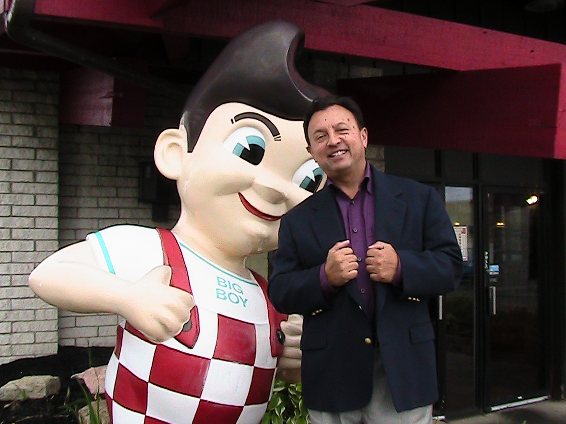 David Jurewicz and the Big Boy Statue