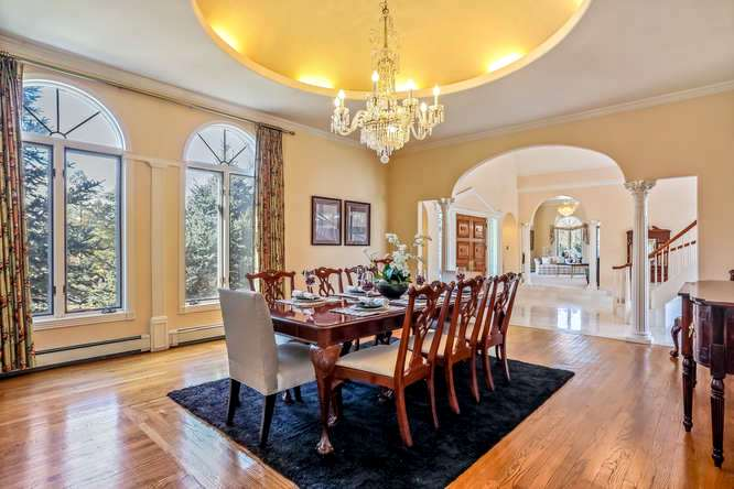 Dining room, 10 Sunrise Drive, Englewood, CO - listed with Friedman Realty Asosciates