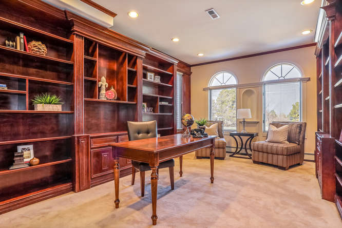 Library, 10 Sunrise Drive, Englewood, CO - listed with Friedman Realty Associates