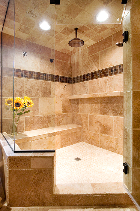 What to do with that soaking tub? Build a bigger shower!