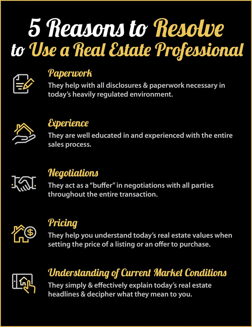 5 Reasons to hire Realtor Flyer