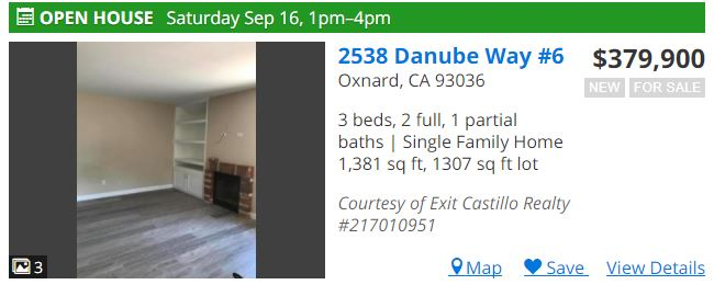 Open House 2538 Danube Way Townhouse for Sale Oxnard CA