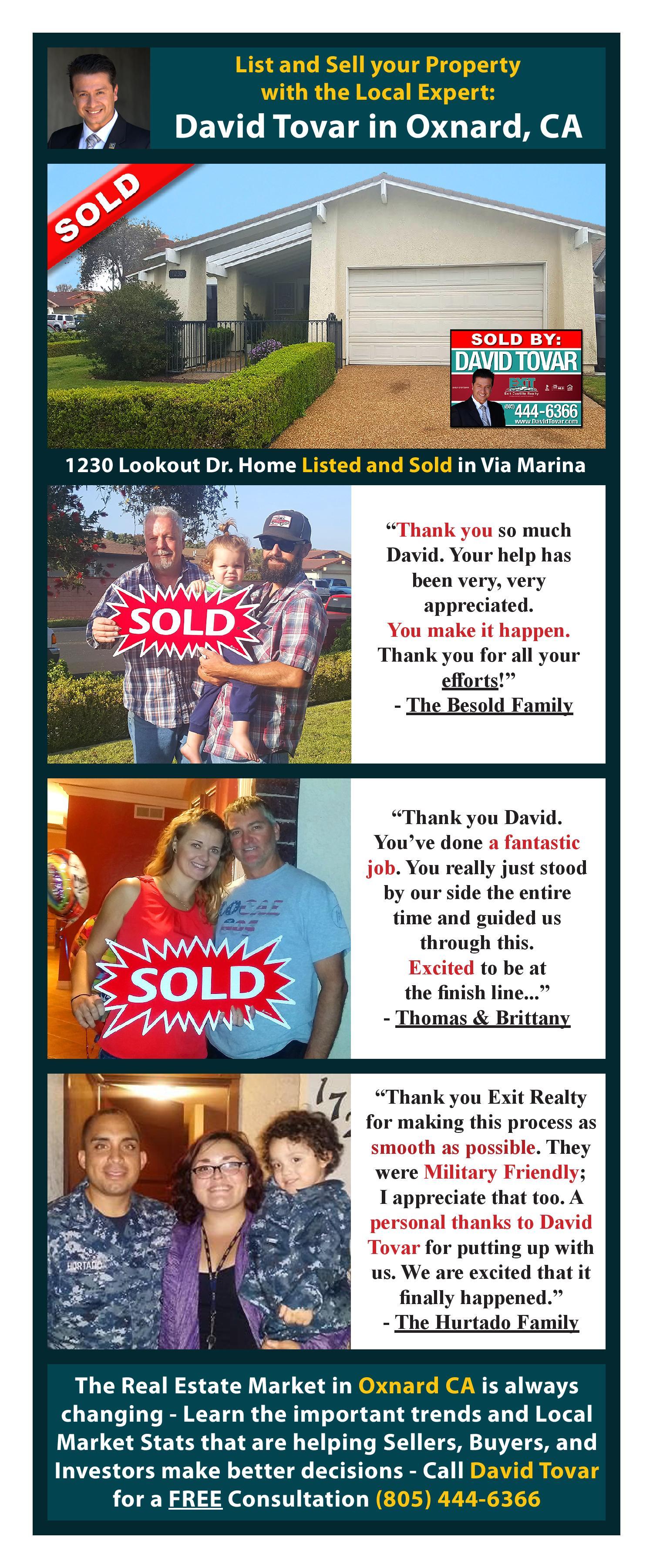 Testimonials David Tovar Realtor of Exit Castillo Realty