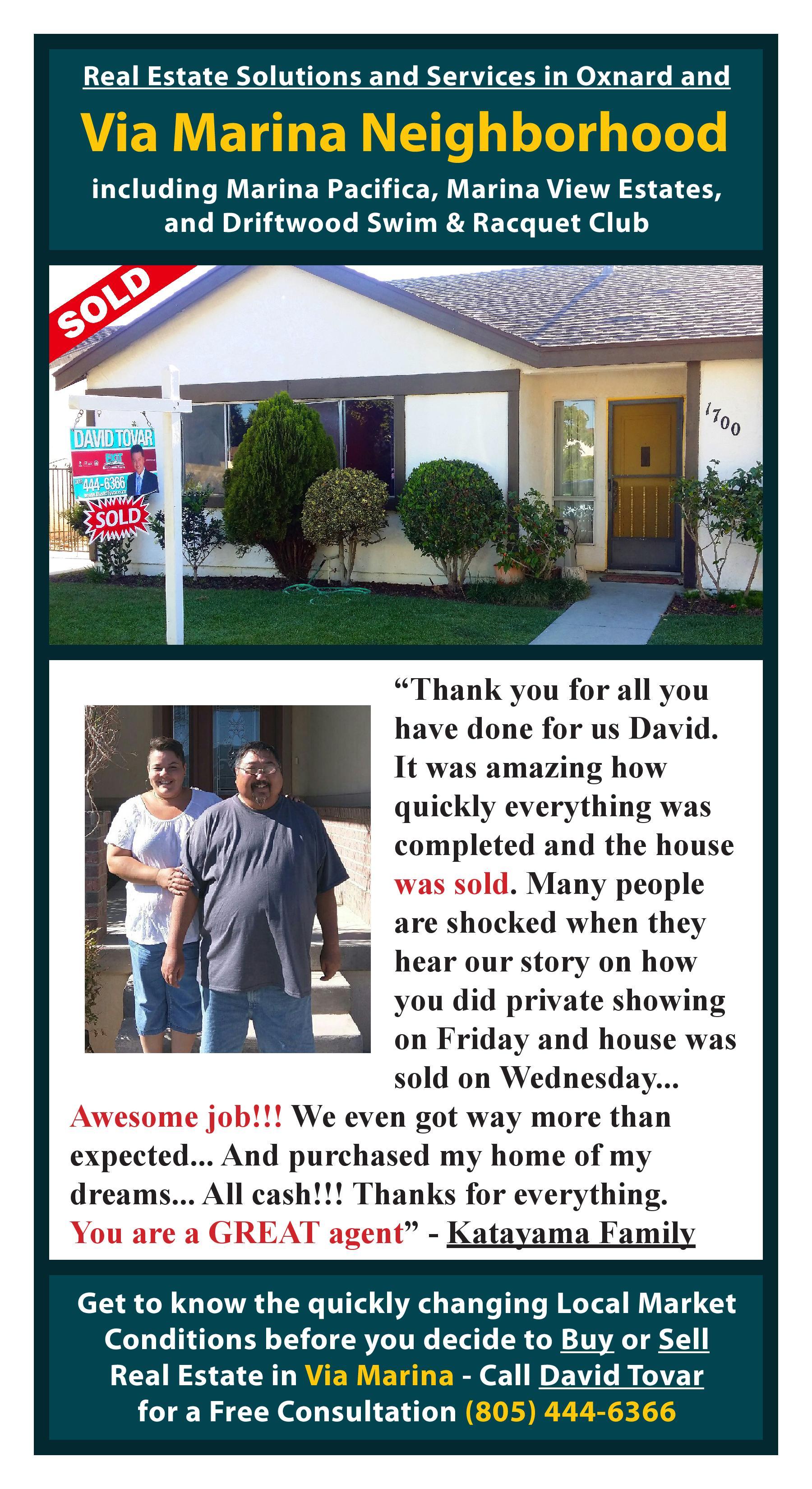 Sold 1700 Lookout Dr. Oxnard CA Via Marina Neighborhood