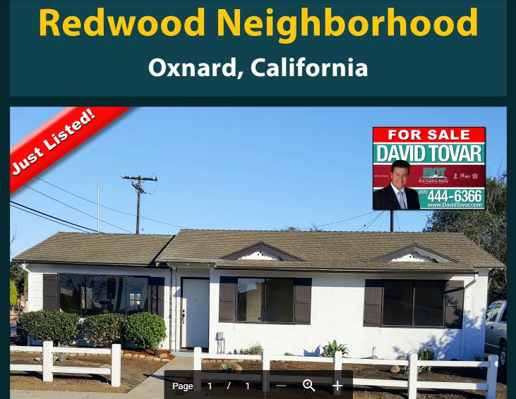 Just Listed Redwood Neighborhood Oxnard CA