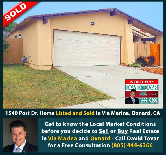 SOLD 1540 Port Dr. Via Marina Neigborhood Oxnard CA