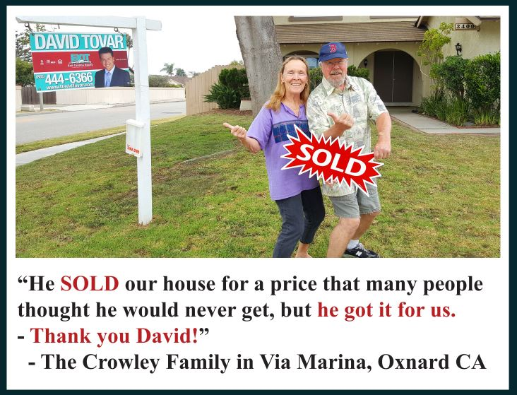 Testimonial Via Marina Sellers Oxnard CA by David Tovar of Exit Realty