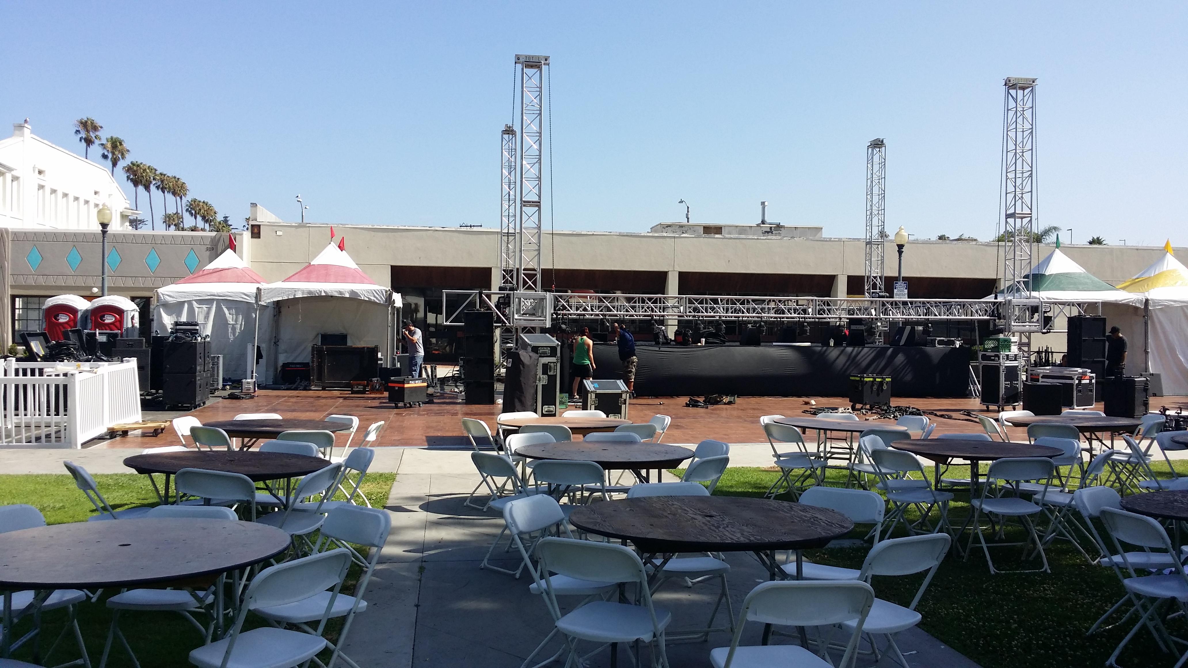 Oxnard Salsa Festival 2014 Stage Area