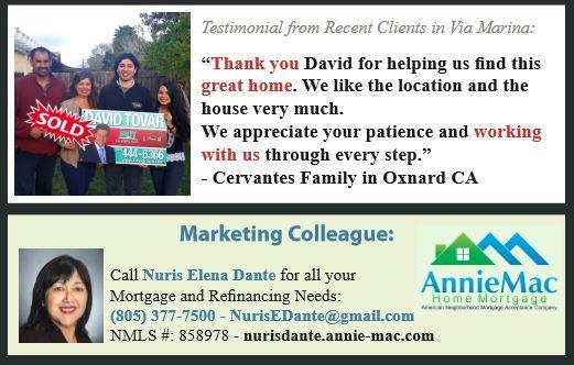 Testimonial Via Marina Oxnard CA by David Tovar of Exit Castillo Realty