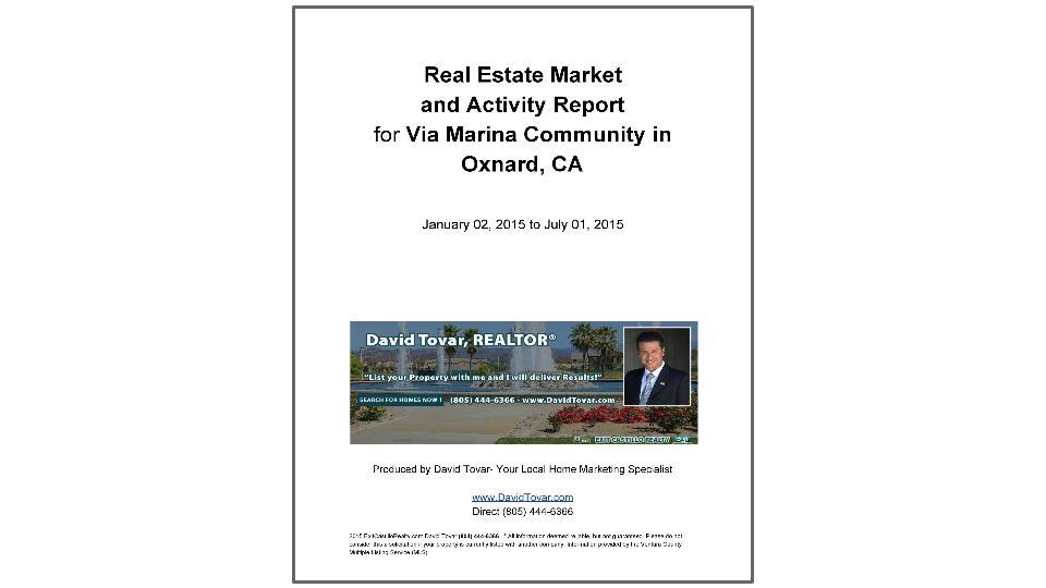 Via Marina Real Estate Market Report in Oxnard C