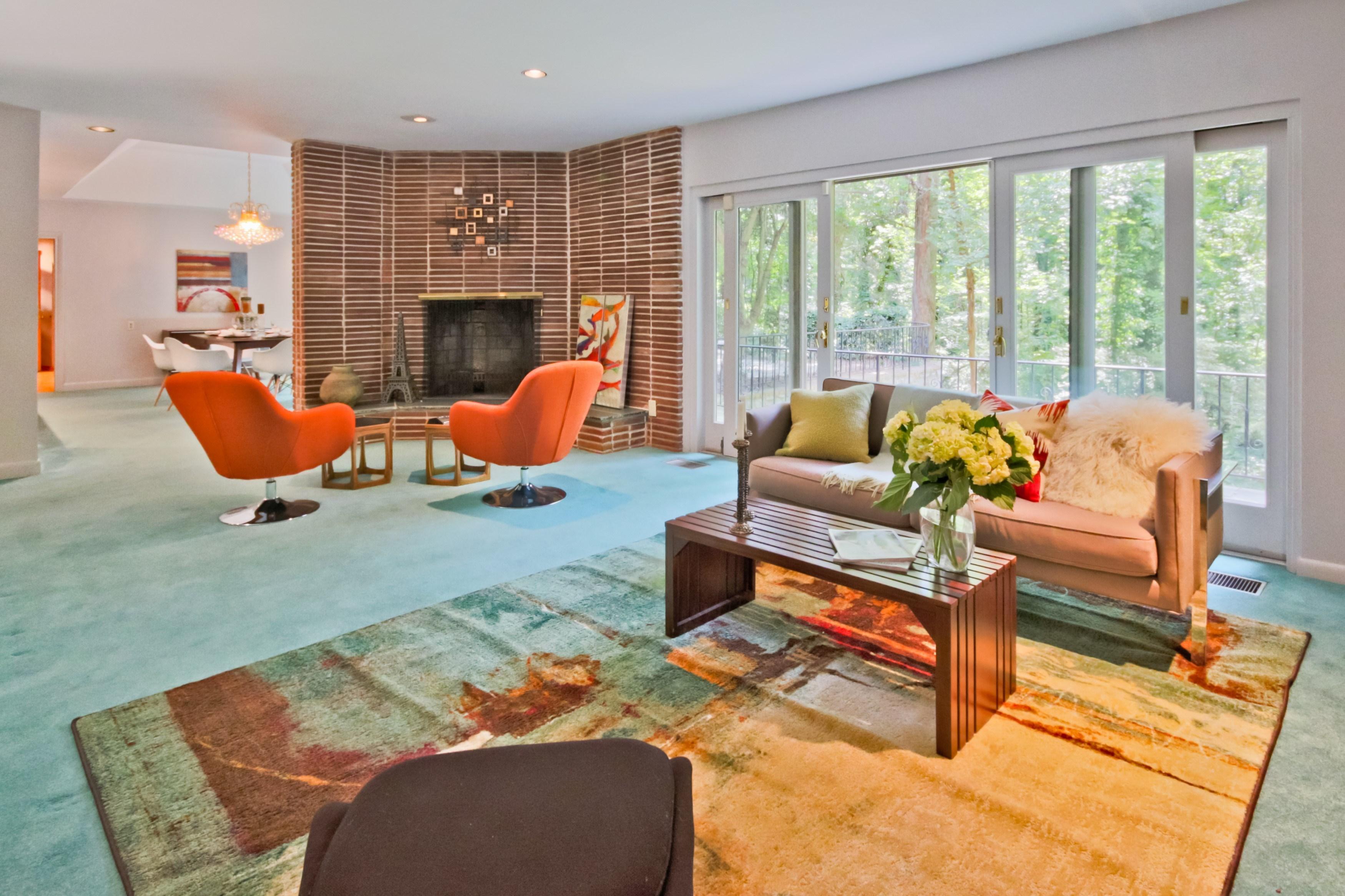 Mid century modern flooring cork floors doors for Mid century modern flooring