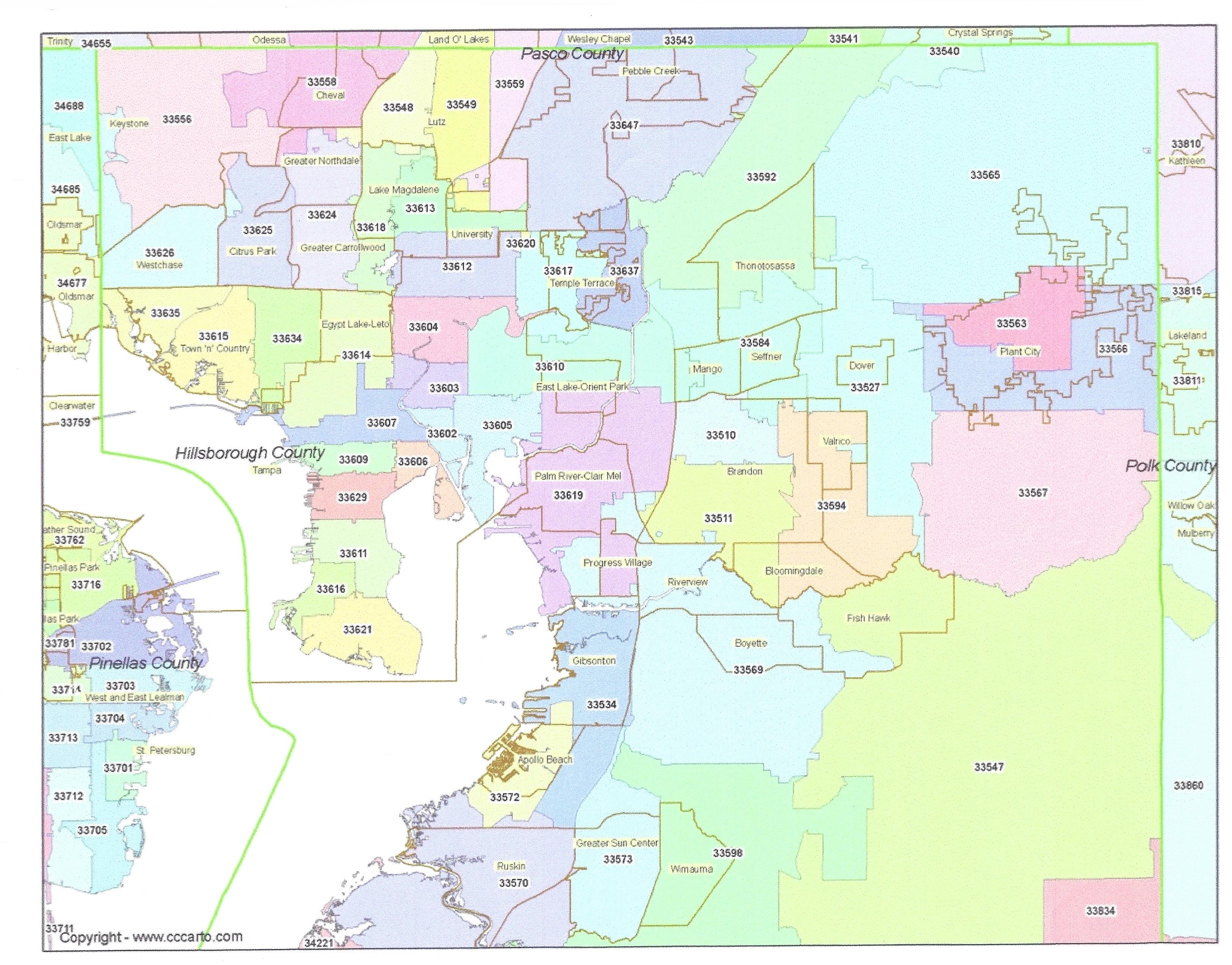 This is a graphic of Geeky Printable Pinellas County Zip Code Map