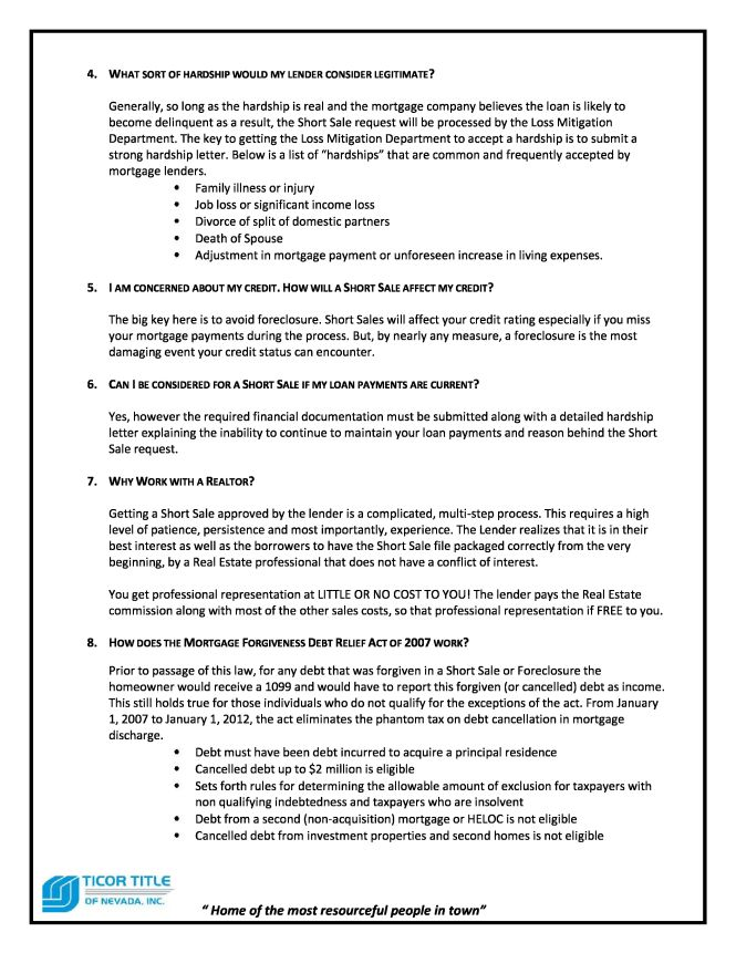 Short Sale Guide page 3