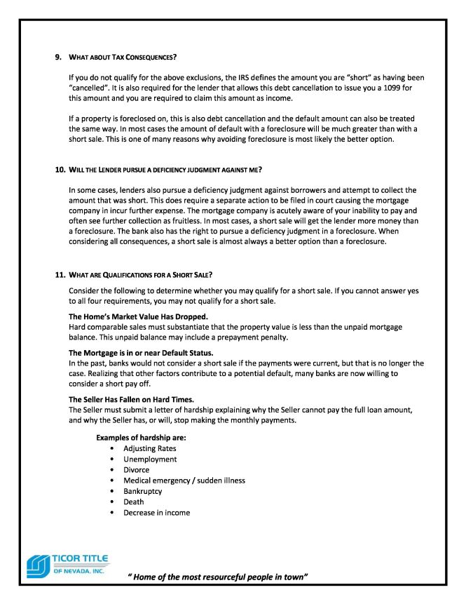 Short Sale Guide page 4