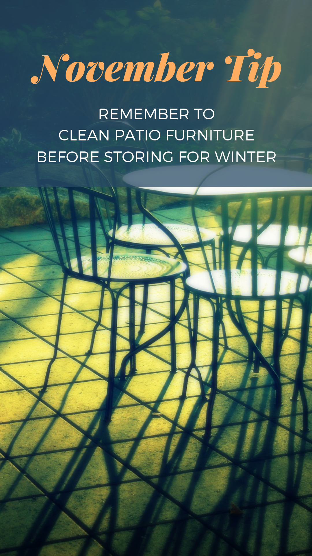 November home maintenance tips from Live in MT Real Estate Clean Patio Furniture Before Storing
