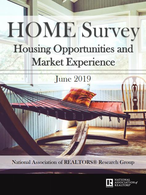 National Association of REALTORS 2019 Q2 HOME Survey Graphic