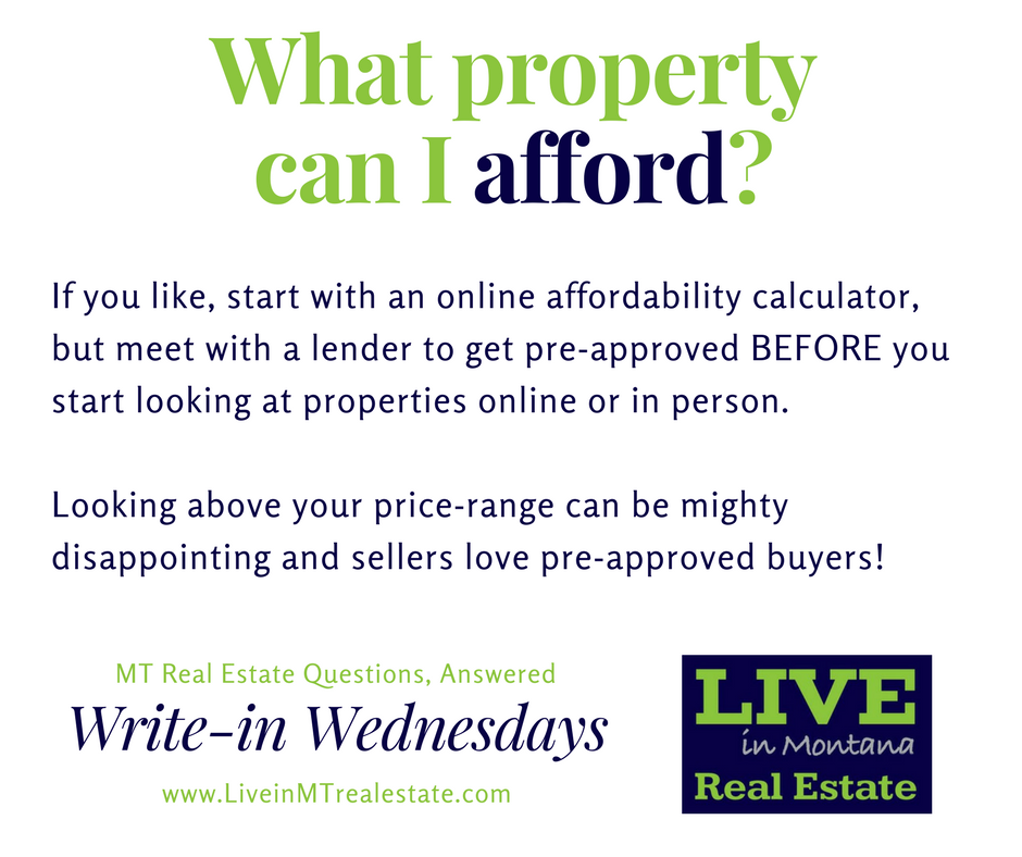 Live in MT Real Estate Lynn Kenyon Write in Wednesday