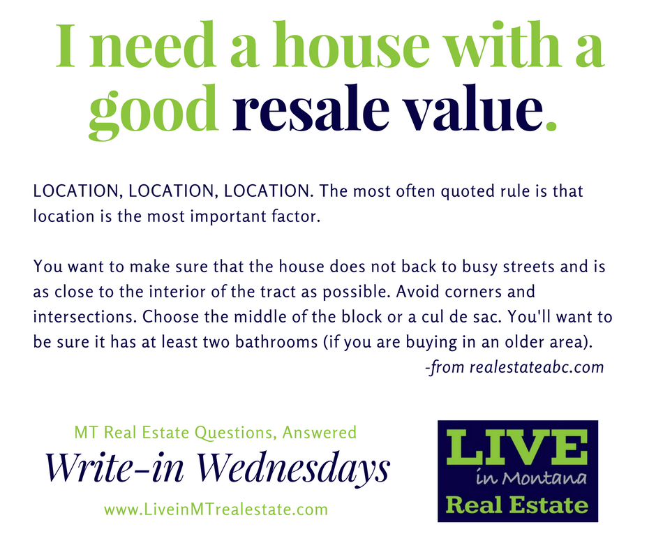 Live in MT Real Estate #writeinwednesday #liveinmt