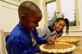 boy, girl, pumpkin pie