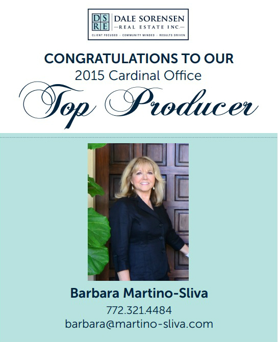 TOP PRODUCING AGENT BARBARA MARTINO-SLIVA VERO BEACH FLORIDA