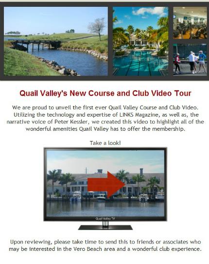 QUAIL VALLEY GOLF CLUB & RIVER CLUB VERO BEACH FLORIDA