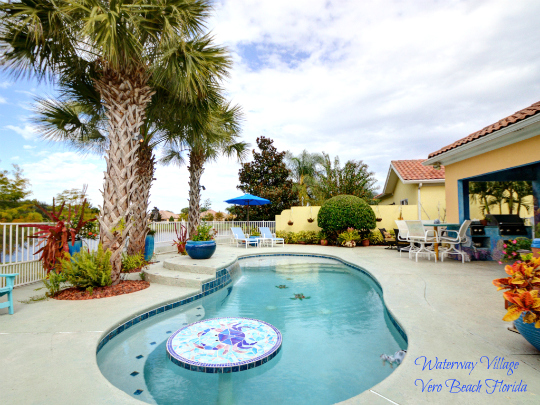 Waterway Village Pool Home Vero Beach Florida