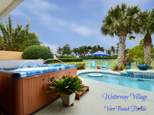 TROPICAL POOL HOME VERO BEACH WATERWAY VILLAGE FLORIDA