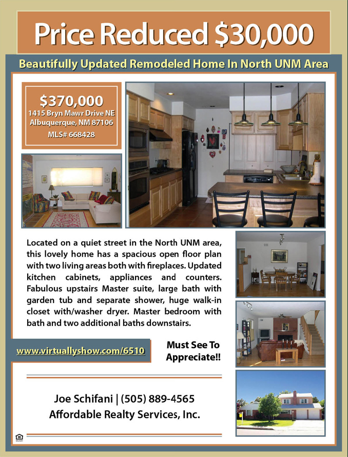 sample property flyer flat fee mls listing albuquerque new mexico