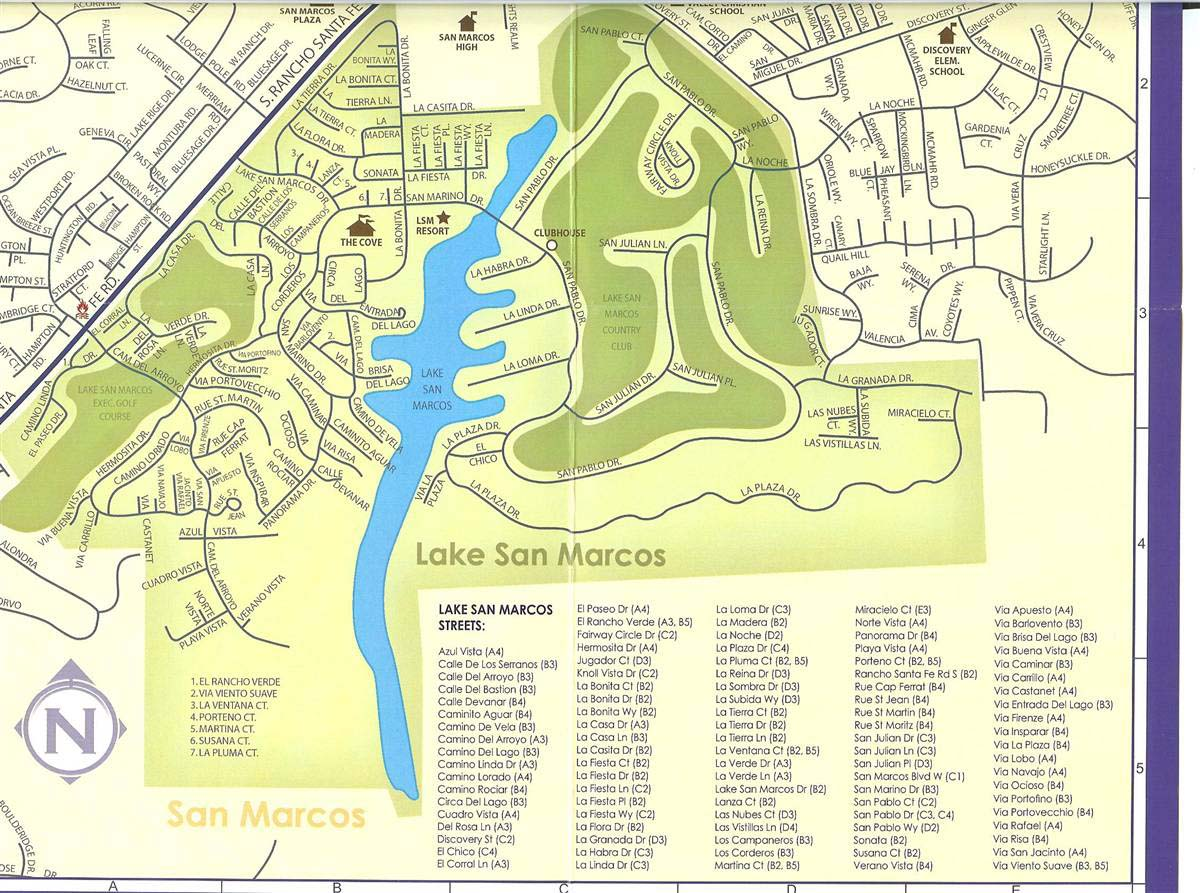 lake san marcos map Lake San Marcos History Lake And Coast Real Estate 760 591 lake san marcos map