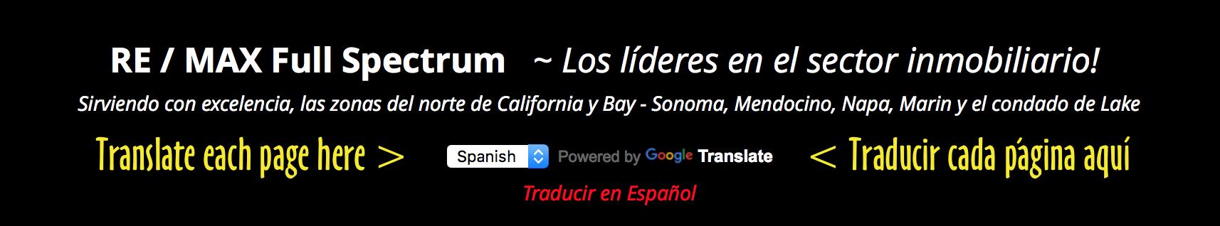 Ejemplo traductor español en Cabecera