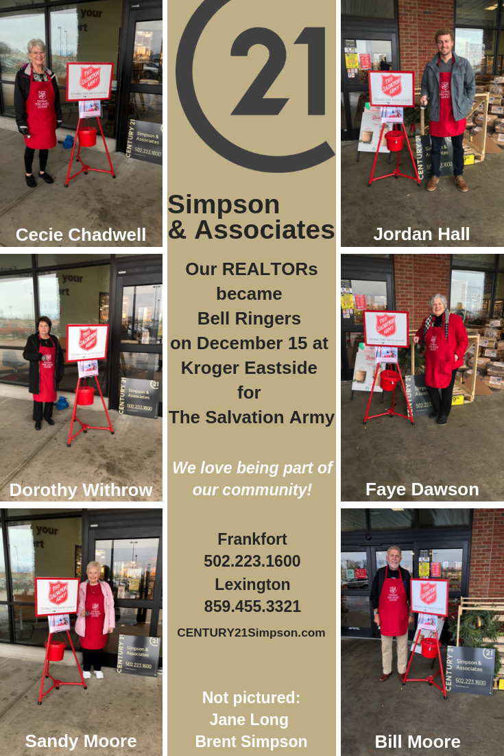 CENTURY 21 Simpson & Associates joined the Red Kettle season as bell ringers